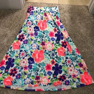 A skirt with flower print
